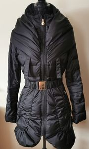 Laundry By Shelli Segal Black Puffer Coat Size Xs
